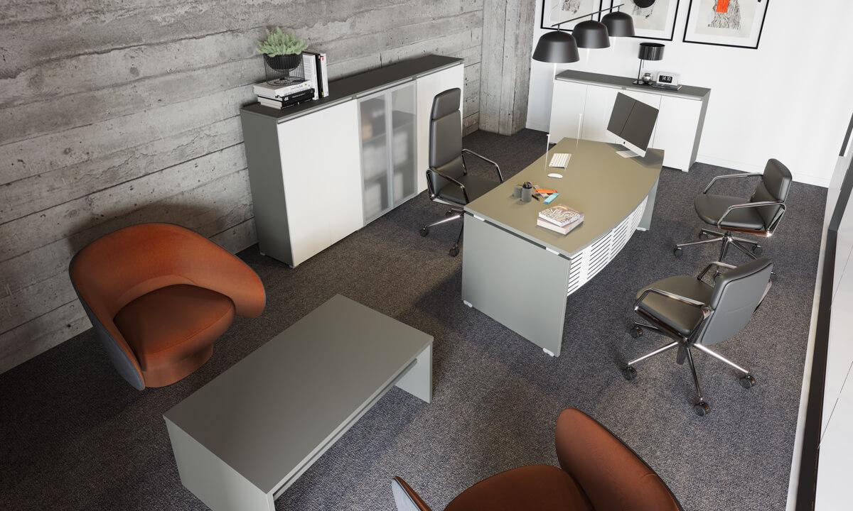 Extend vezetői irodabútor laplábbal 3