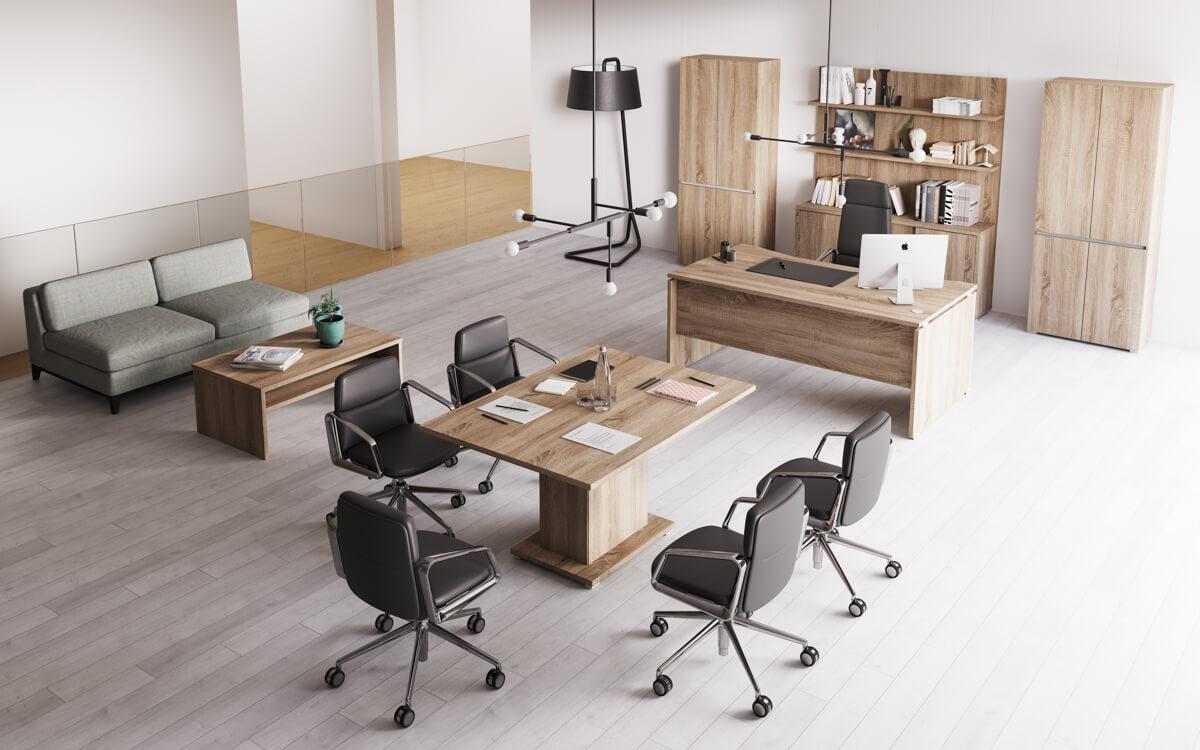 Extend vezetői irodabútor laplábbal 4