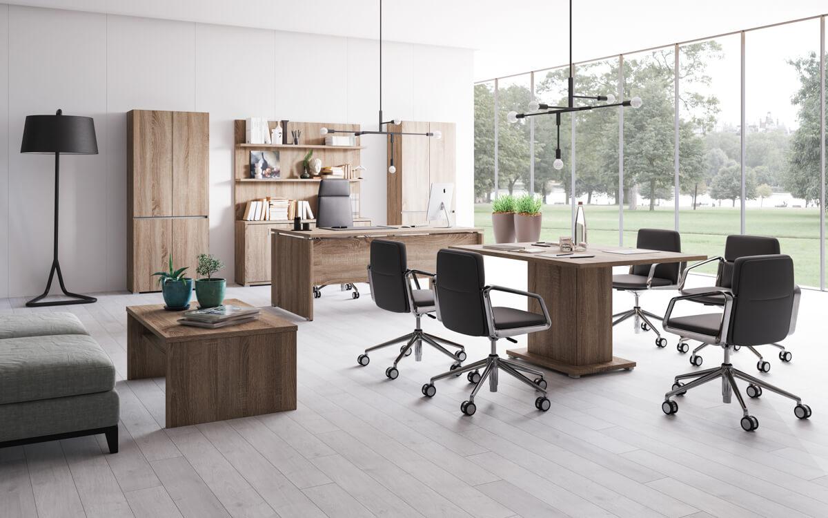 Extend vezetői irodabútor laplábbal 5