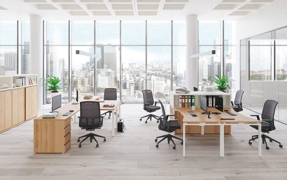 FL1 Fémlábas íróasztalok Extend irodabútorhoz