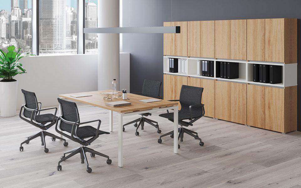 Extend irodabútor íróasztalok FL1 fémlábbal 2