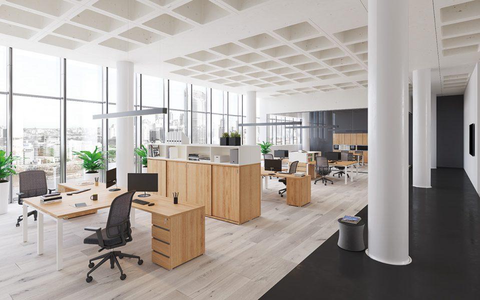 Extend irodabútor íróasztalok FL1 fémlábbal 3