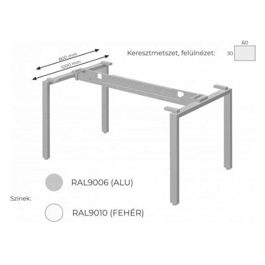 Extend irodabútor FL1 fémlábas asztalai, munkaasztalai