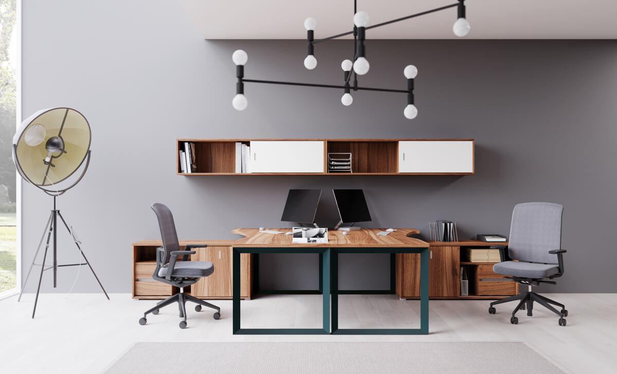 FL11 fémlábbal szerelt Extend íróasztal
