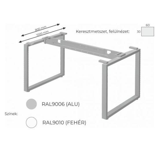 Extend irodabútor FL2 fémlábas asztal, tárgyalóasztal