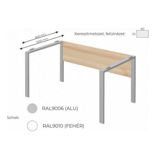 Extend irodabútor FL5 fémlábas asztal, tárgyalóasztal