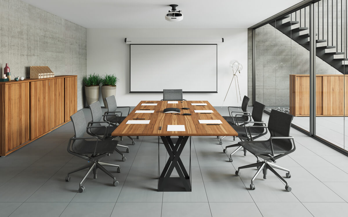 FL8 fémlábbal szerelt Extend tárgyalóasztalok