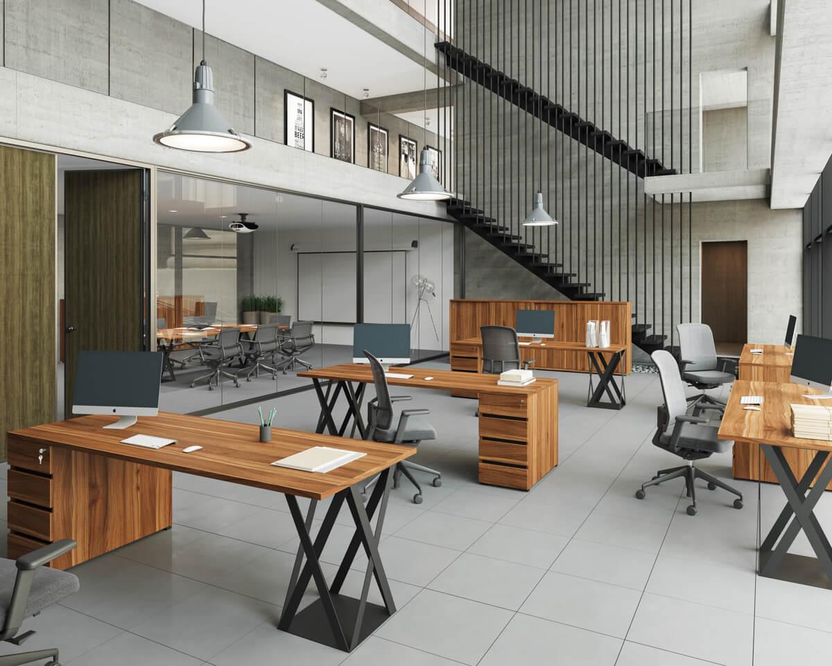 Extend FL8 design fémlábas íróasztalok, tárgyalóasztalok