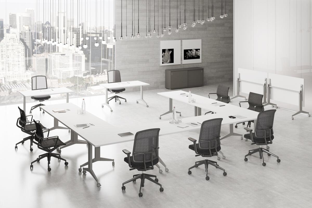 Extend FL9 billenthető asztallapos, fémlábas asztalok, konferenciaasztalok