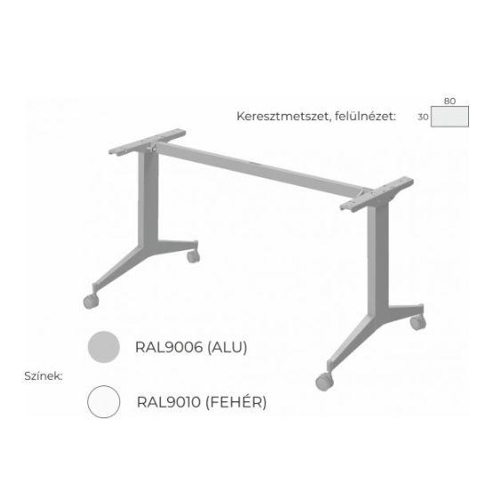 Extend irodabútor FL9 fémlábas asztal, tárgyalóasztal