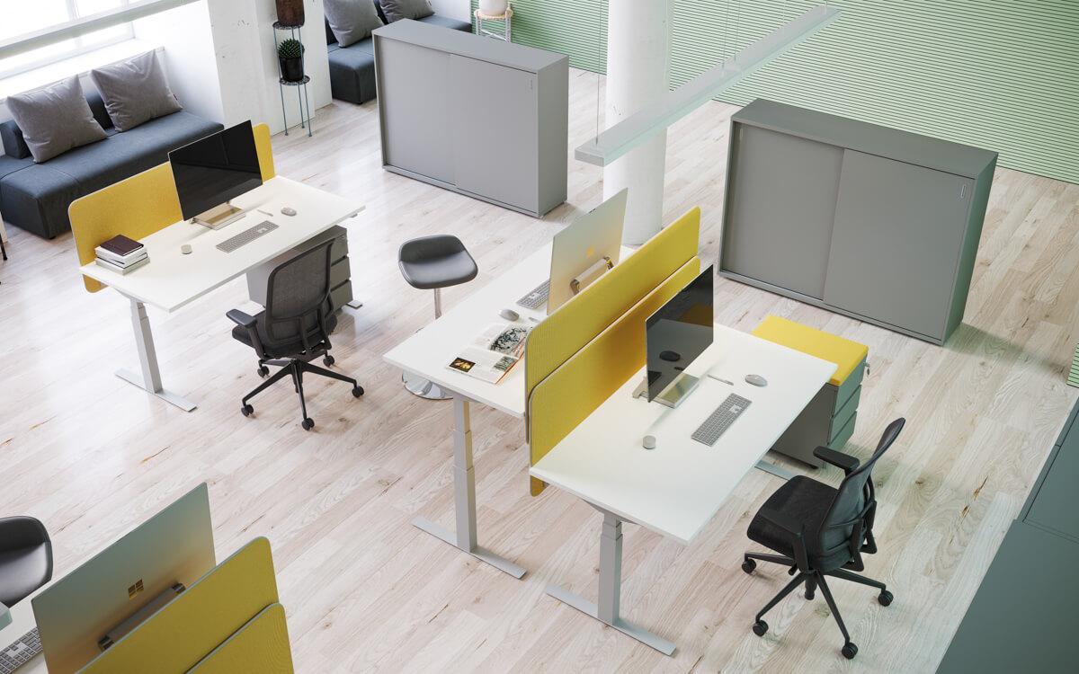Elektromosan állítható magasságú irodai asztalok FL-10 fémlábbal