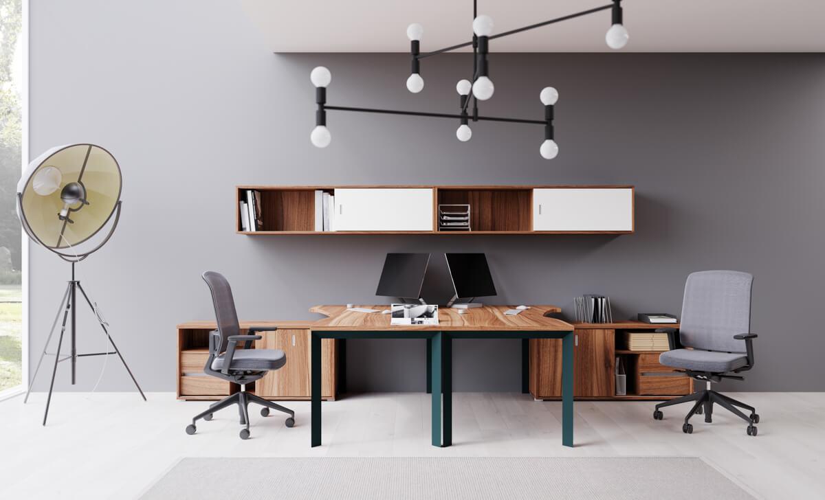 Fémlábas íróasztalok EXTEND bútorokhoz