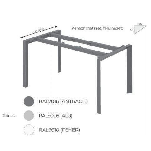 Extend irodabútor FL3 fémlábas asztal, tárgyalóasztal