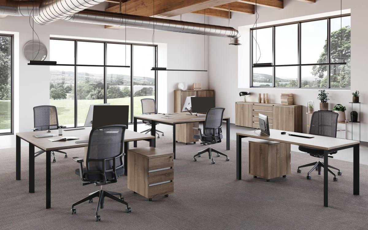 Extend egylégterű iroda FL3 fémlábbal