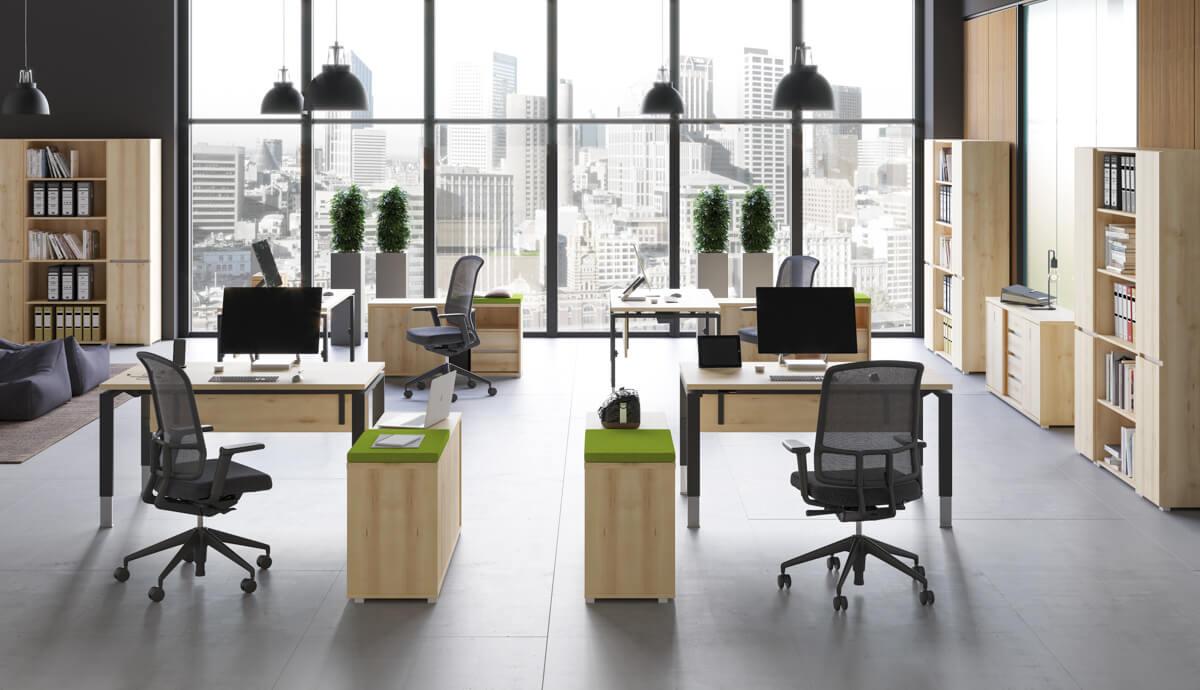 Állítható munkaasztalok FL-4 fémlábbal