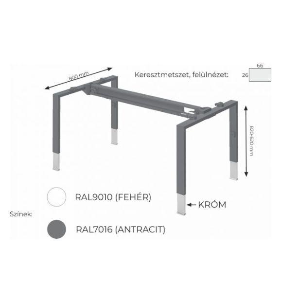 Magasságban állítható asztalok FL4 fémlábbal