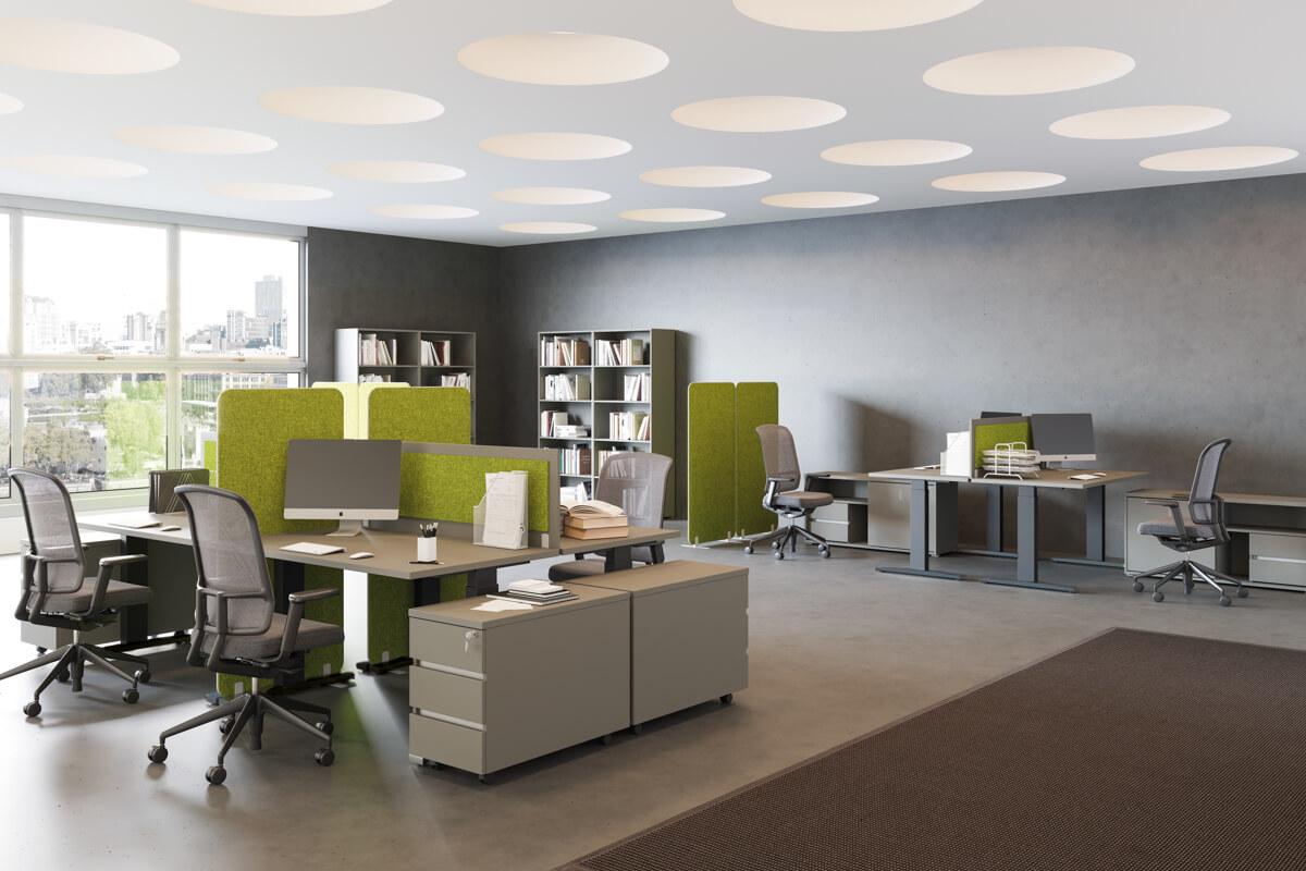 FL7 fémláb mechanikus magasságállítási lehetőséggel irodai asztalokhoz