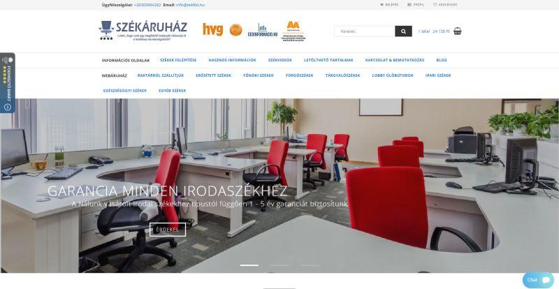 Székáruház - az irodai székek, forgószékek, tárgyalószékek és ipari székek specialistája