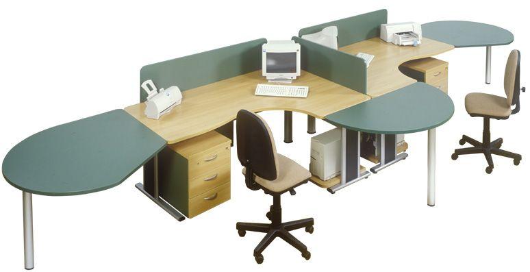 Nagyméretű dupla számítógépasztalok AVA fémlábbal