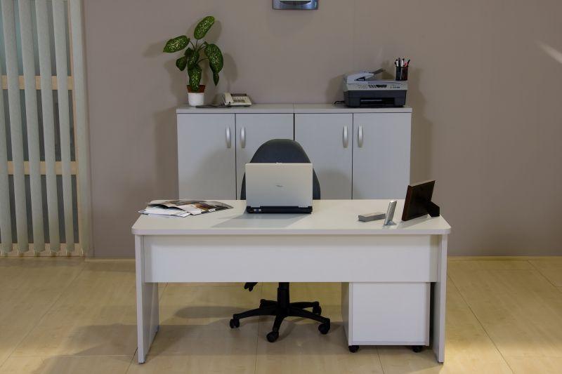Vénusz irodabútor laplábas asztal világosszürke 2