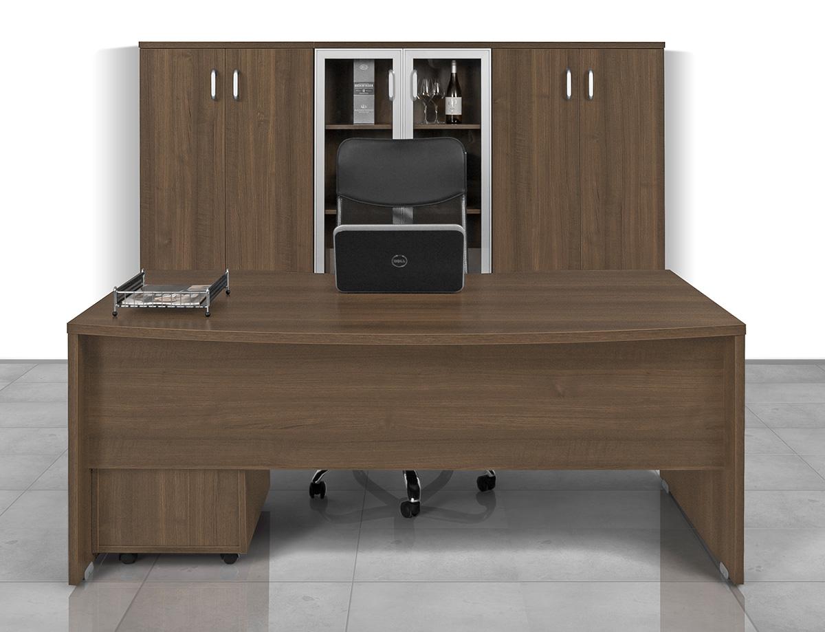 Vénusz vezetői iroda alukeretes-üvegajtós szekrény