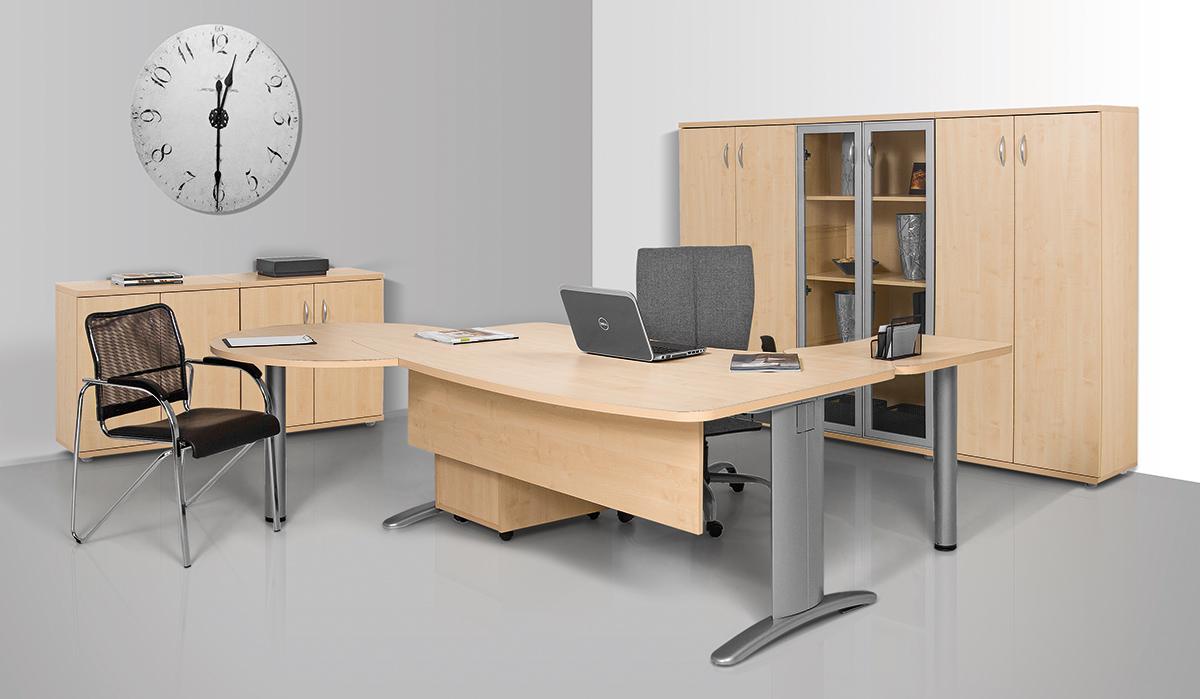 LUX fémlábas íróasztal kombináció tárgyalótoldatta