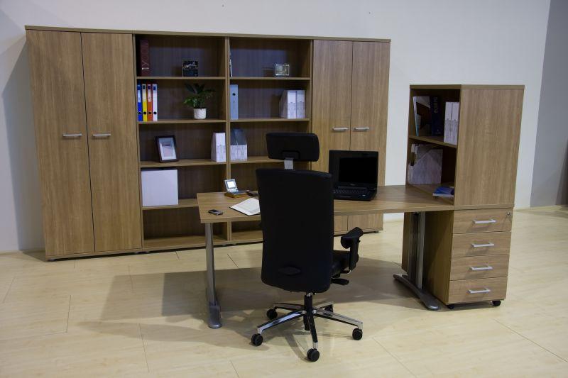 LUX fémlábas íróasztal konténerrel és rátételemmel