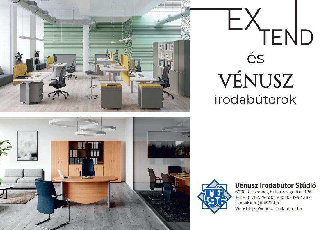 Vénusz és Extend irodabútor képes enteriőr katalógus