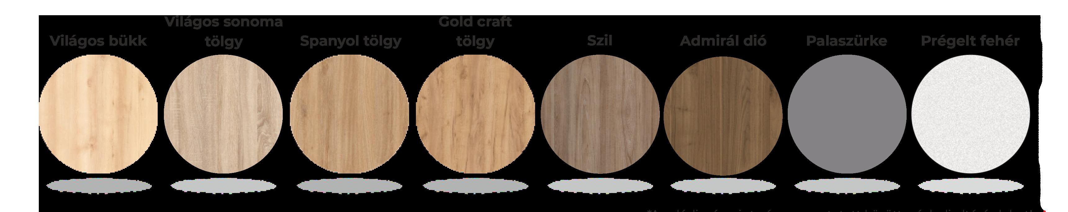 Választható Extend asztallap színek