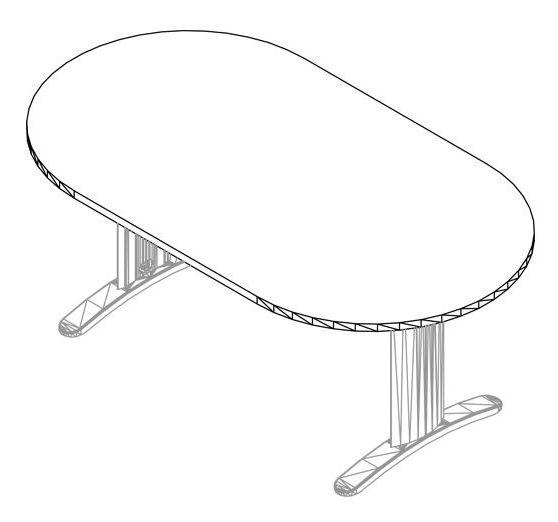 Tárgyalóasztalok - LUX fémlábas tárgyalóasztalok választéka