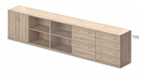 Vénusz irodabútorok - két rendezős szekrények kombinálhatósága