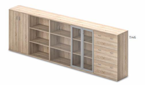 Vénusz irodabútor - 3 rendező magas szekrények kombinálhatósága