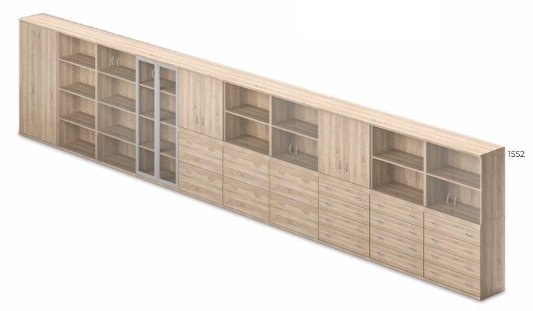 Vénusz irodabútor - négy rendezős magas szekrények kombinálhatósága