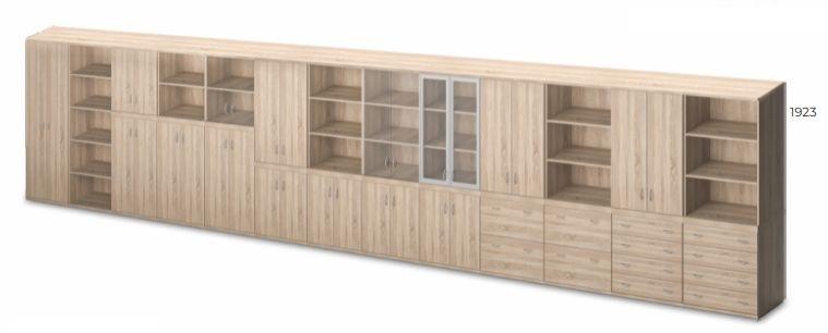 Vénusz irodabútor - öt rendező magas szekrények kombinálhatósága