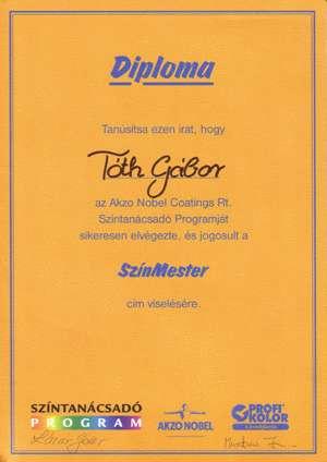 Színmester diploma