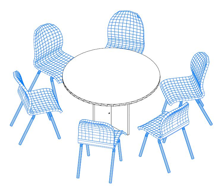 Kerek tárgyalóasztal 6 fő részére a Vénusz irodabútorokból