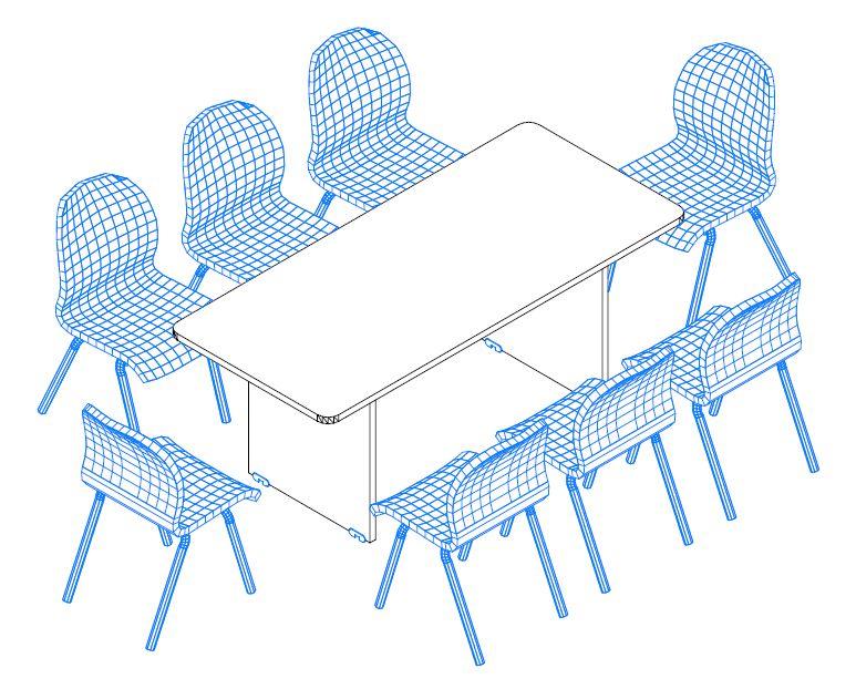 TA-180/100-K tárgyalóasztal a Vénusz bútorcsaládból