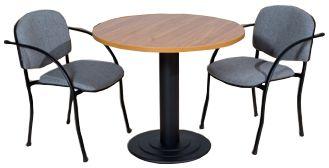 Kisméretű tárgyalóasztal presszó asztallábbal