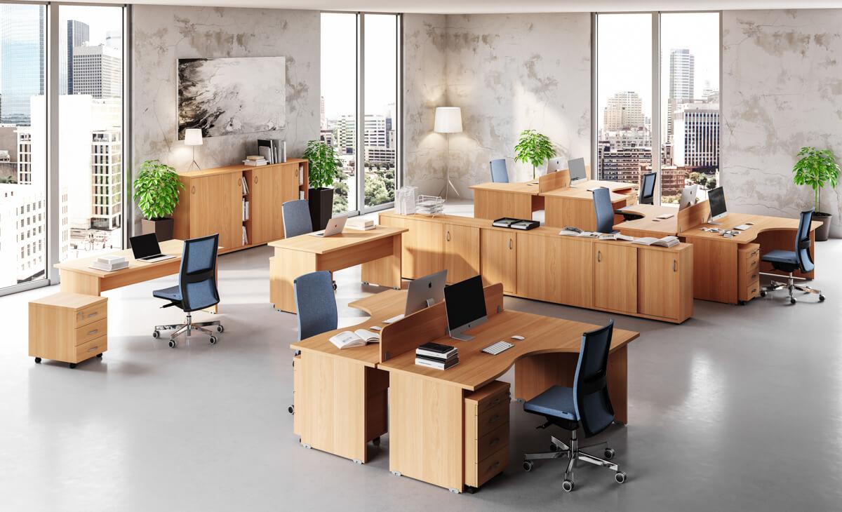 Tolóajtós és redőnyös irodai szekrények a Vénusz irodabútor családból
