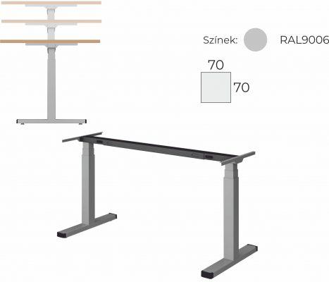 Eletromosan állítható magasságú íróasztal